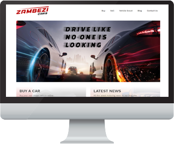 A computer screenshot of a automobile website.